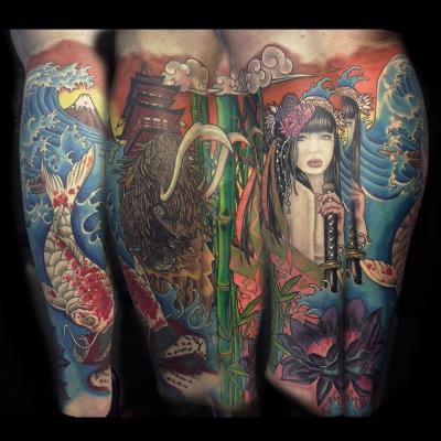 Ejemplo tatuaje oriental