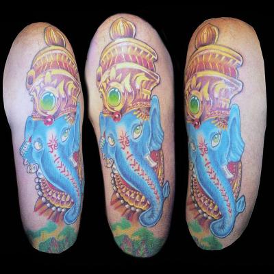 Tattoo ganesha oriental