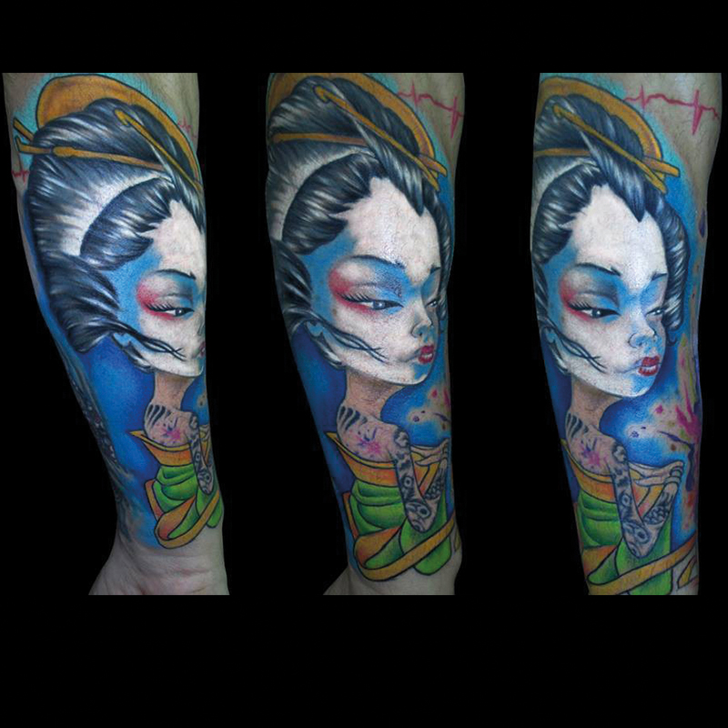 Tattoo geishas
