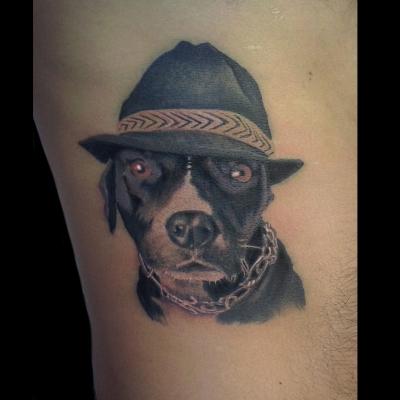 tattoo realista perro