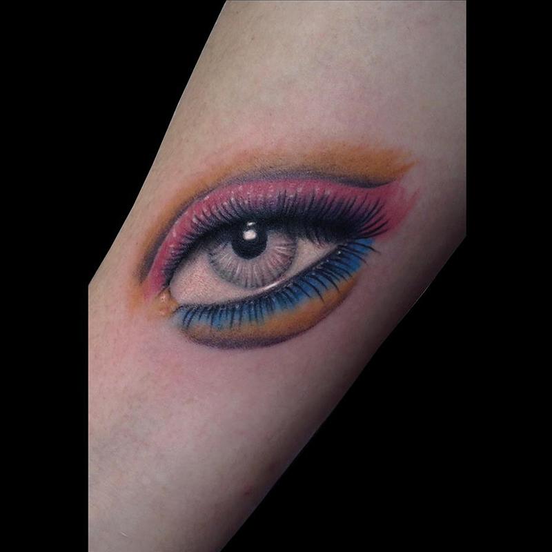 Tatuaje Barcelona ojo