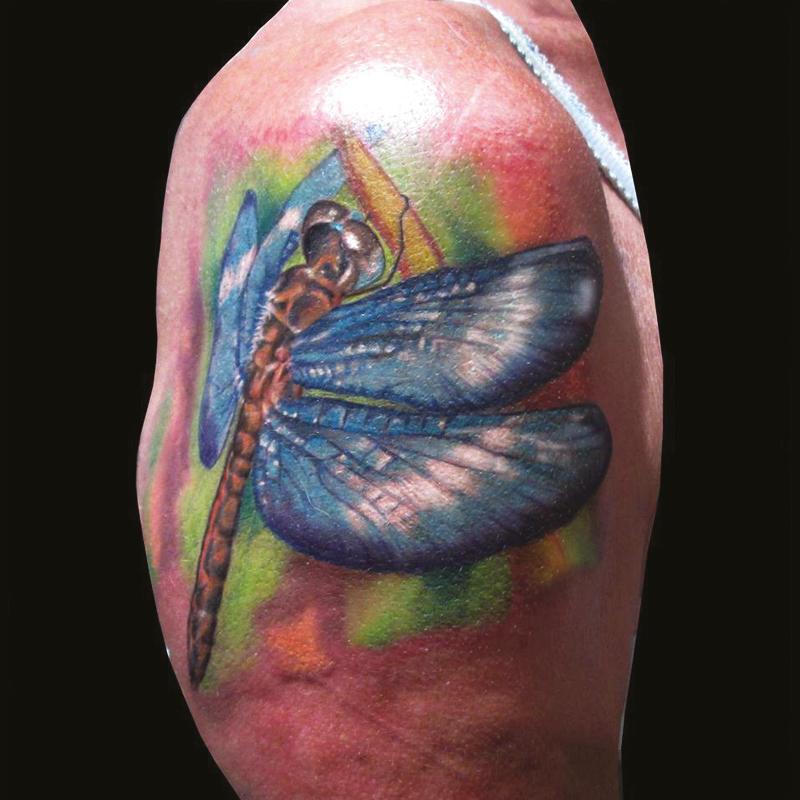 Tatuaje libélula