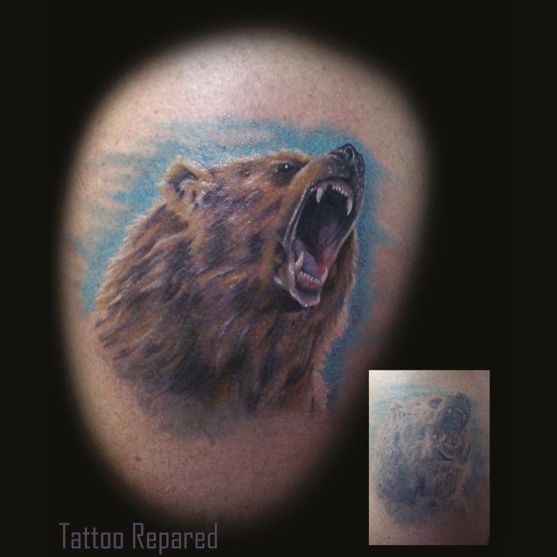 Tatuaje oso en Barcelona