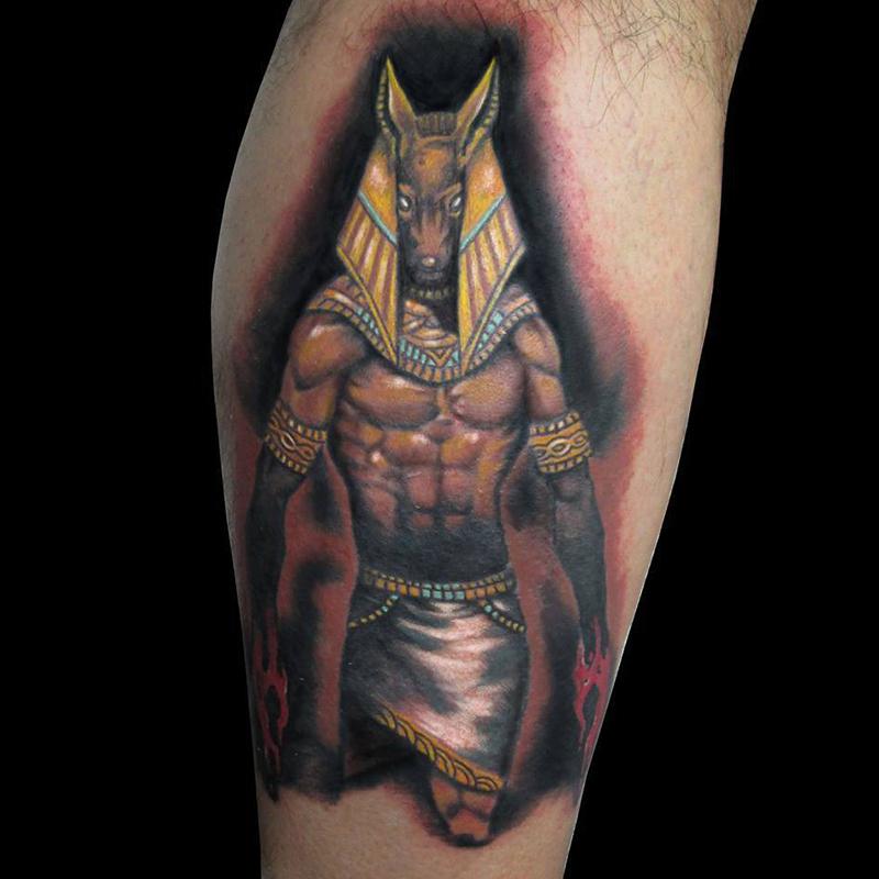 tatuaje realista thot