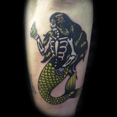 Tattoo Sirena mermaid