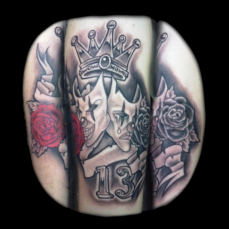 Tatuaje 13 rosas