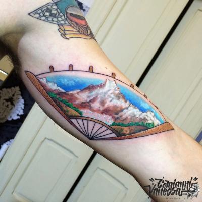 Abanico Tibet New traditional tatoo