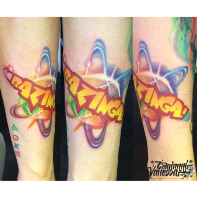 The Big Bang Theory tatoo color