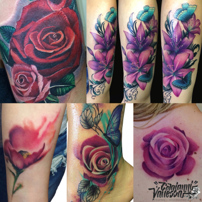 Flowers color tattoo