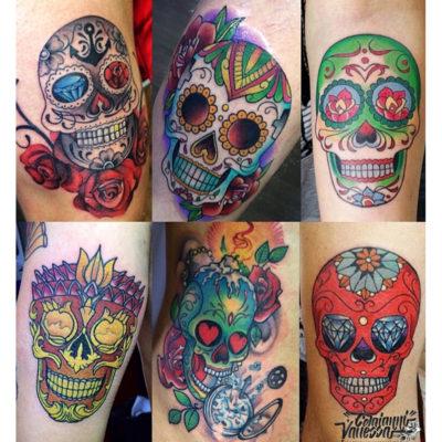 Ejemplo tatuajes calaveras mexicanas