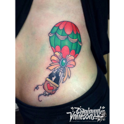 Tatuaje globo New Traditional Style