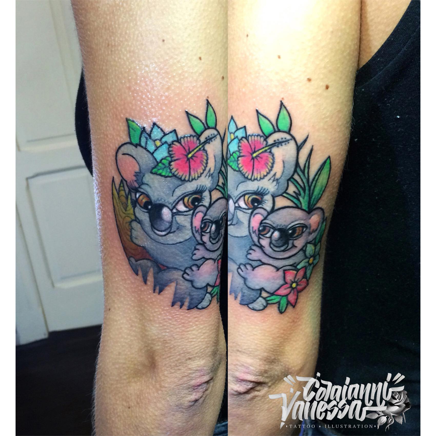 Familia Koala tatuaje