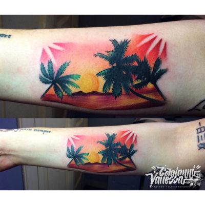 Tatuaje a todo color