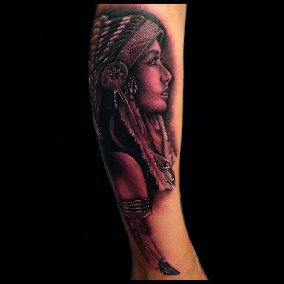 Tatuaje jefe indio