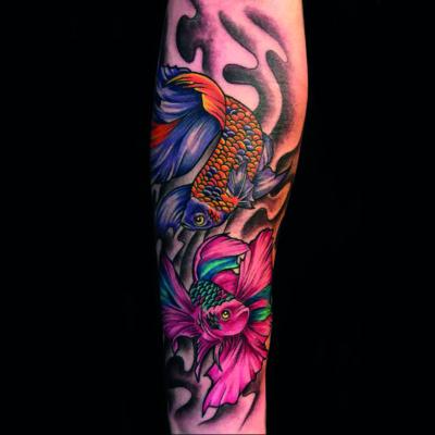 Dos bettas tatuaje
