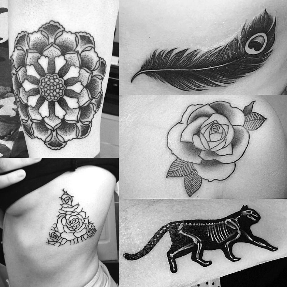 Ejemplos tatuajes en blanco y negro