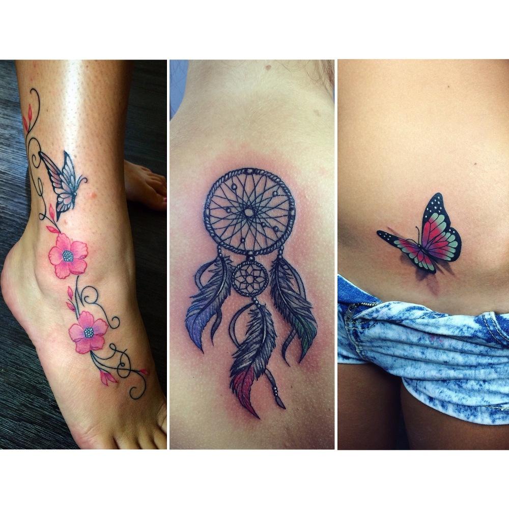 Collage tatoo mujer